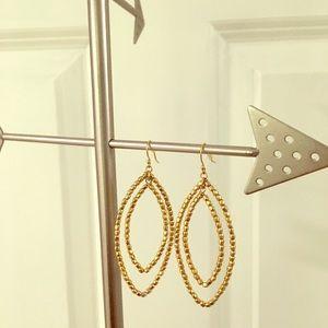 Stella & Dot gold earrings